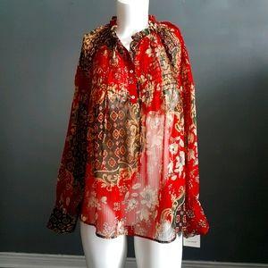 Flowy Zara boho style print blouse